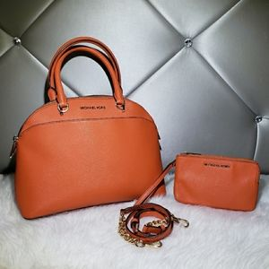 Michael Kors Emmy Dome Satchel With Wallet.